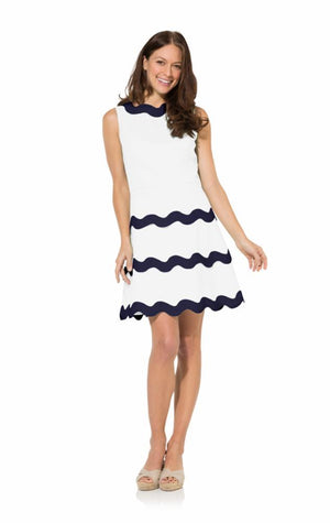 Sleeveless Ric Rac Tier Dress