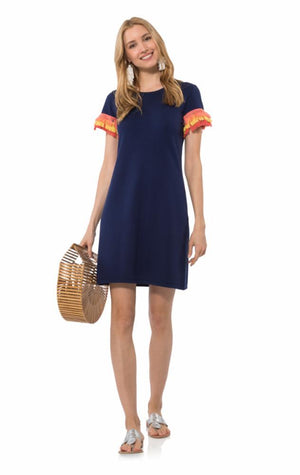 Short Sleeve Fringe Dress