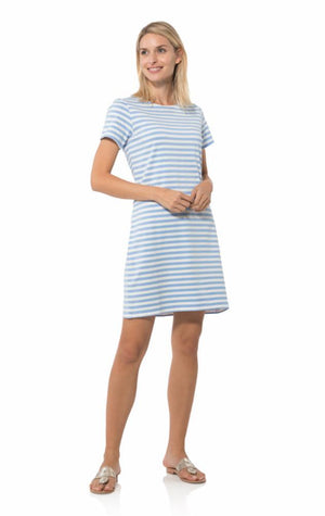 Short Sleeve Stripe Shift Dress