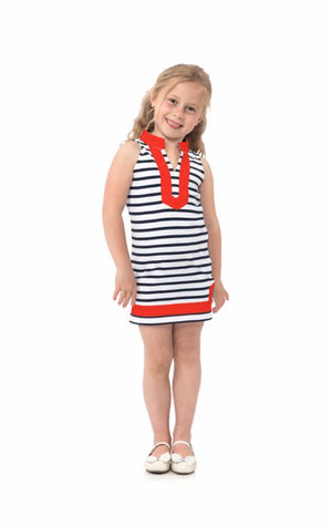 Striped Knit Kids Tunic Dress