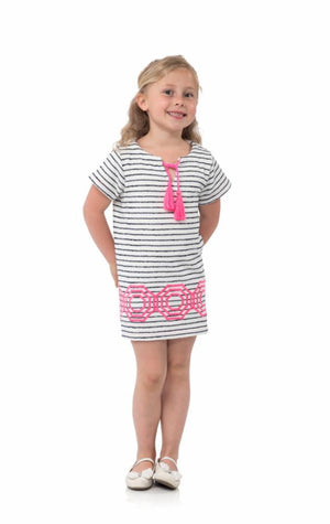 Kids Short Sleeve French Terry Dress