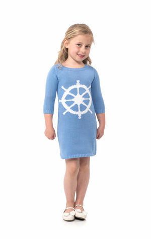 Cotton Knit Kids Long Sleeve Dress