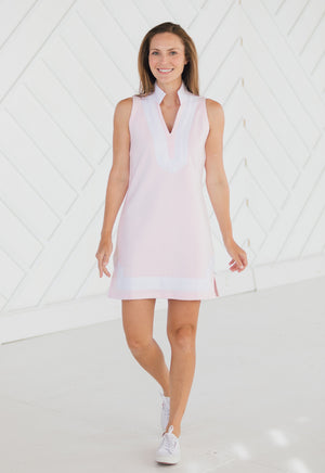 Sleeveless French Terry Classic Tunic Blush