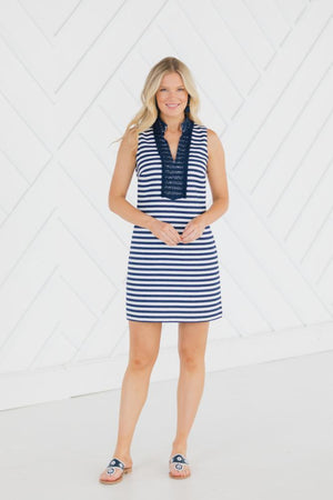 Stripe Jacquard Sleeveless Classic Tunic