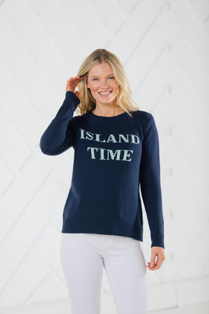 Island Time Long Sleeve Intarsia Sweater