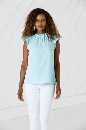 Sleeveless Ruffle Top - Two Colors