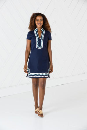 Short Sleeve Classic Tunic with Ric Rac
