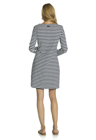 Sailor Stripe Long sleeve Dress Navy