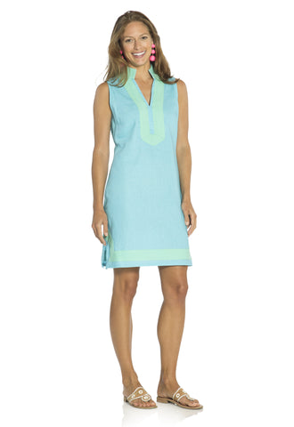 The Classic Sleeveless Tunic Dress Ocean
