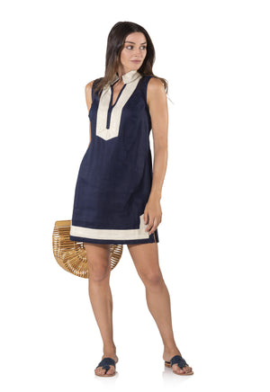 Sleeveless Classic Tunic Navy