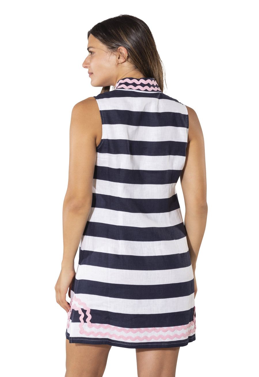 Sleeveless Classic Tunic with Ric Rac