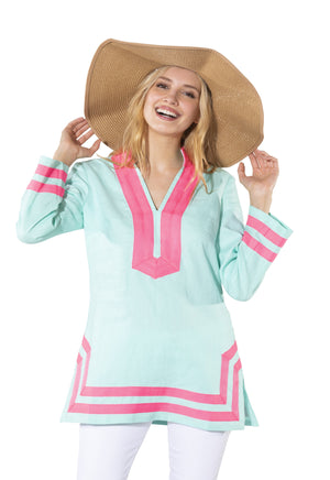 Long Sleeve Classic Tunic Top Beachglass