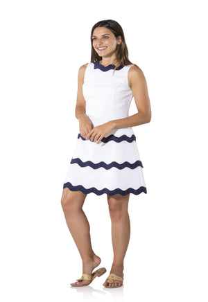 Sleeveless Tiered Ric Rac Dress