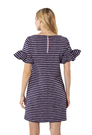 French Terry Ruffle Sleeve Dress