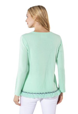 Cashmere Long Sleeve Tassel Sweater