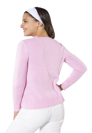 Long Sleeve Intarsia Prep Sweater