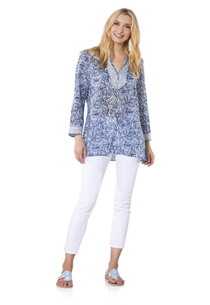 Long Sleeve Monkey Print Tunic Top