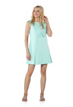 Sleeveless Box Pleat Dress