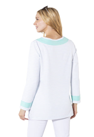 French Terry Long Sleeve Tunic Top