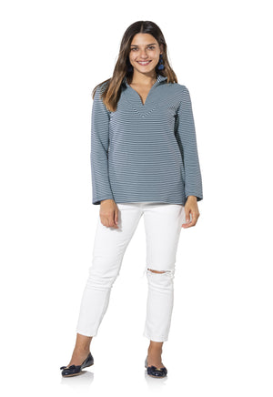Textured Knit Long Sleeve Tunic Top