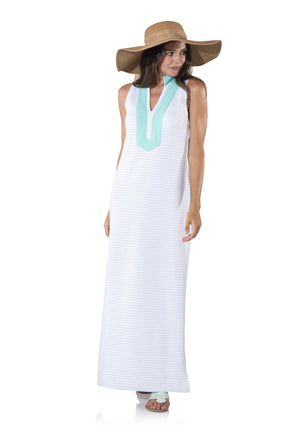 French Terry Maxi Tunic Dress