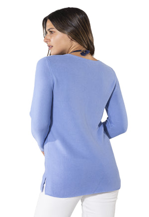 Long Sleeve Periwinkle Sweater