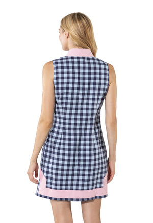 Plaid Sleeveless Classic Tunic