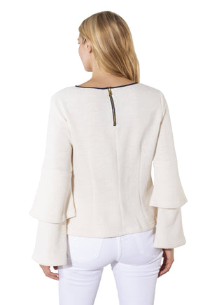 French Terry Double Bell Sleeve Top