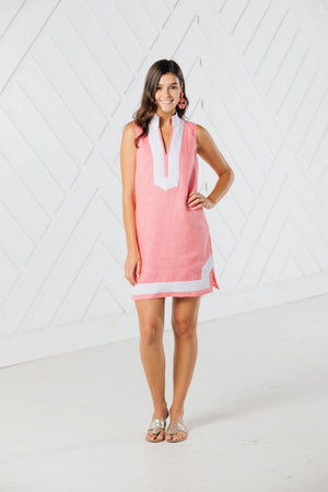 Sleeveless Classic Tunic with Grosgrain Trim