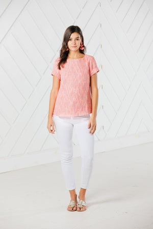 Neon Nights Short Sleeve Top