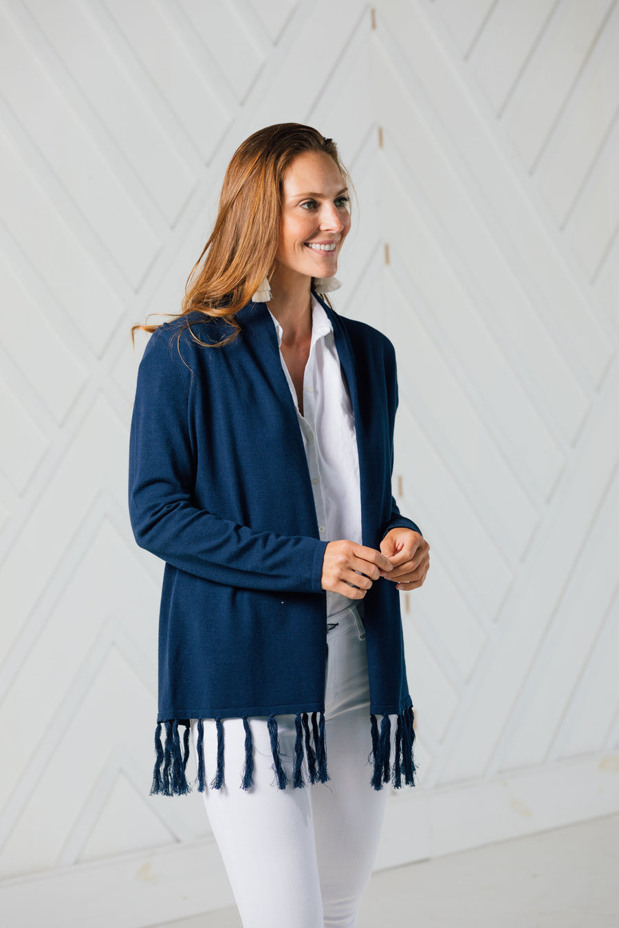 Tassel Drape Front Cardigan (two colors)
