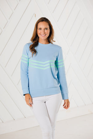 French Terry Inverted Stripe Sweatshirt (two colors)