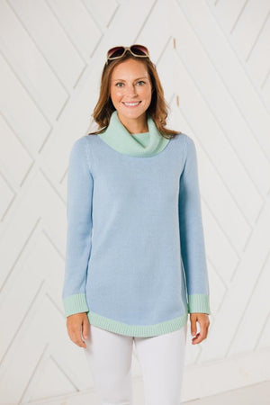Sweater Weather Round Hem Turtleneck (two colors)