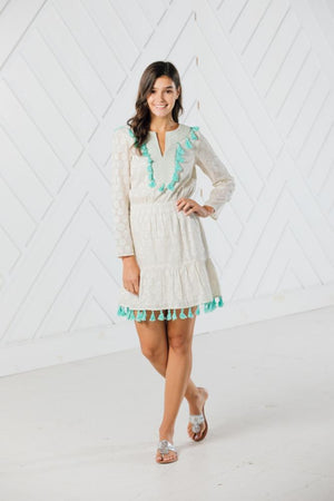 Shimmer & Shine Long Sleeve Tassel Dress