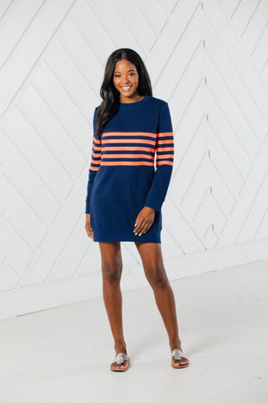 PREORDER: Stripe Sweatshirt Dress