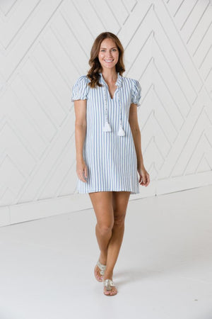 Short Sleeve dress with Tassels