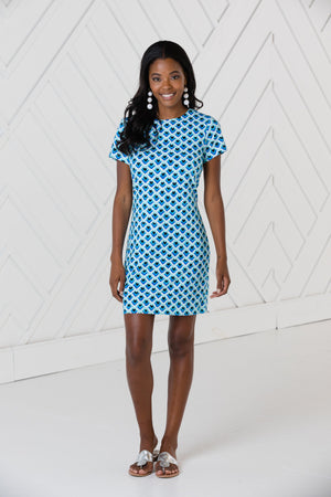 Teardrop Print Short Sleeve Dress