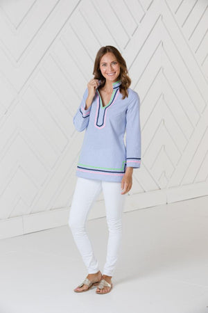 Long Sleeve Tunic Top with Ric-Rac