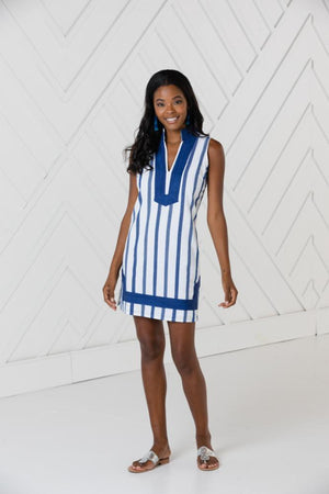 Stripe Sleeveless Classic Tunic