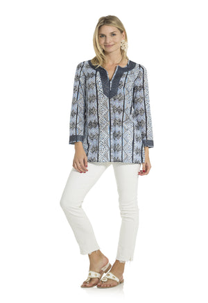 Geo Stripe Tunic Top