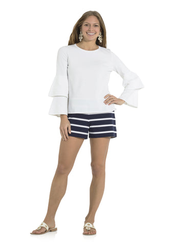 Double Bell Sleeve Sweater White