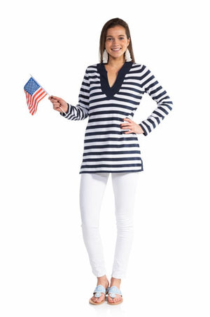 Stripe Tunic Sweater Top