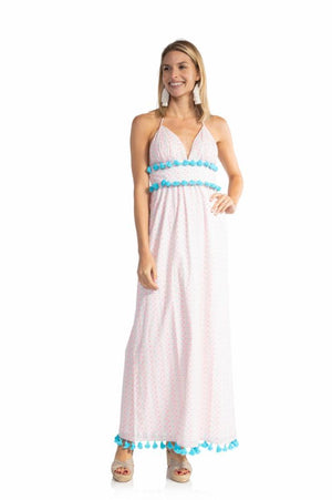 Funfetti Halter Maxi Dress