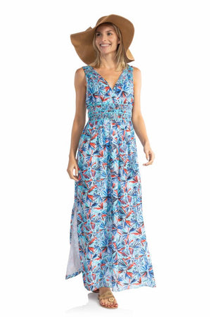 Cotton Sleeveless Maxi Dress Firework
