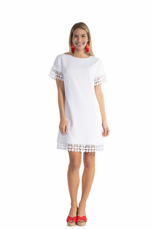 Poly Crepe Short Sleeve Dress