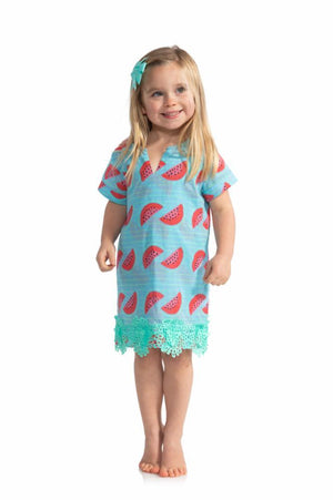 Kids Watermelon Short Sleeve Dress