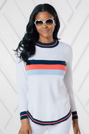 Round Hem Crew Neck Sweater