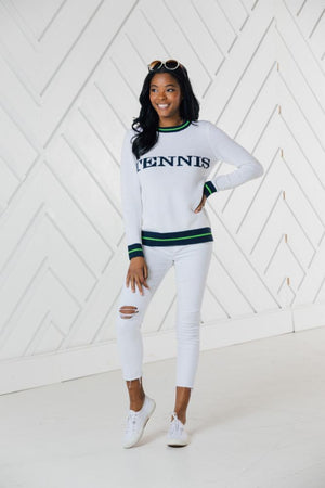 Tennis Intarsia Sweater