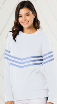 Inverted Stripe Sweatshirt - Two Colors