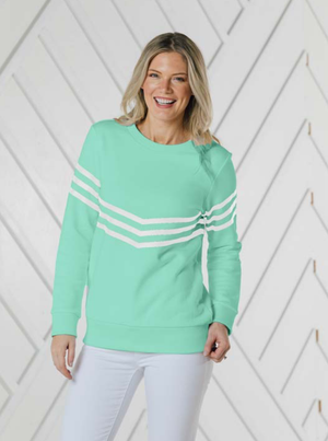 Cabbage with White Stripe Sweatshirt